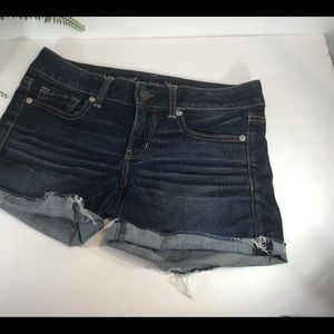 AMERICAN EAGLE OUTFITTERS SHORTS DARK WASH SZ 6